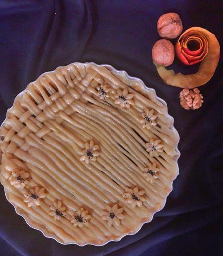دستور پخت نان سیب گردو دارچین