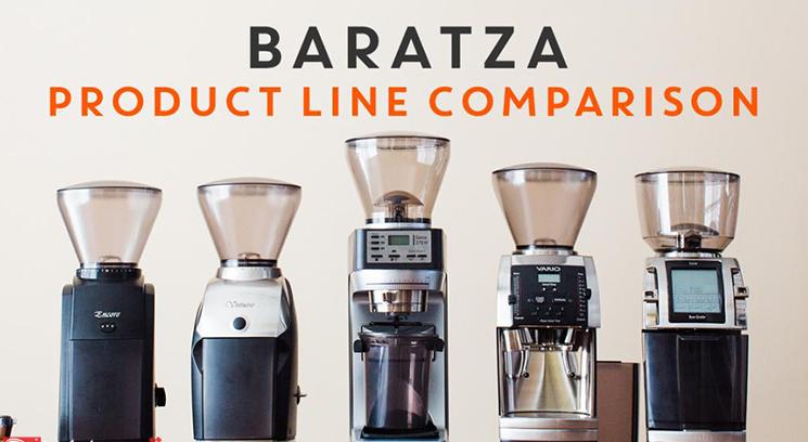 مقایسه آسیاب های قهوه باراتزا با هم