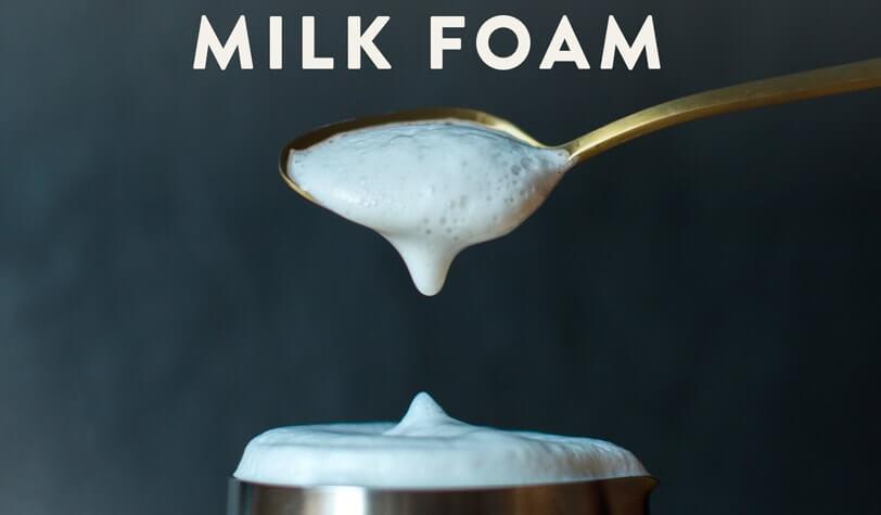 انواع روشهای تهیه فوم یا کف شیر