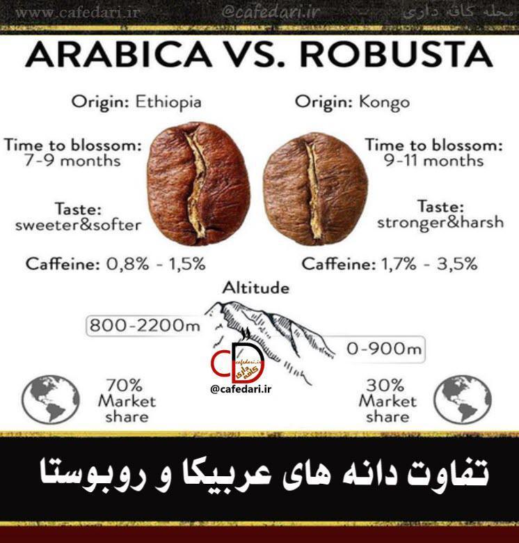 تفاوت عربیکا و روبوستا